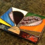 Custom designed stained glass memory box