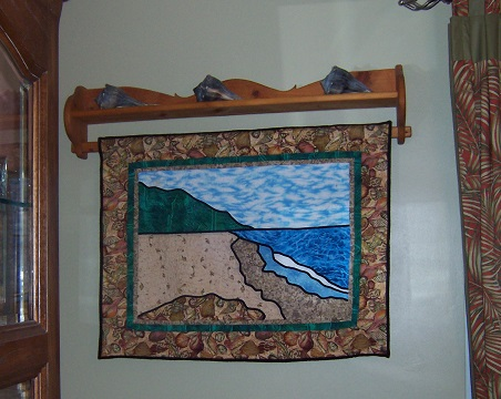 """Stained Glass"" quilt depicting Florida's St. Vincent Island"