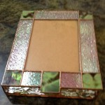Stained glass invitation box.