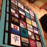 T-Shirt Quilt made using different sized shirts.