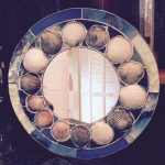Round Scallop Shell mirror