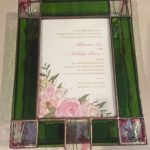 Stunning pink and green invitation box